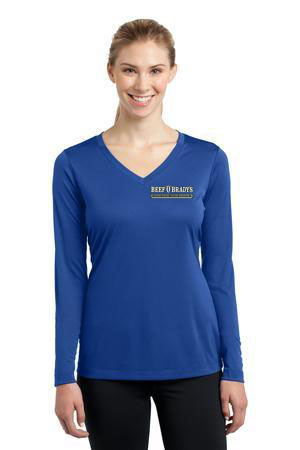 Sport-Tek �- Ladies Long Sleeve V-Neck Competitor� Tee. LST353LS